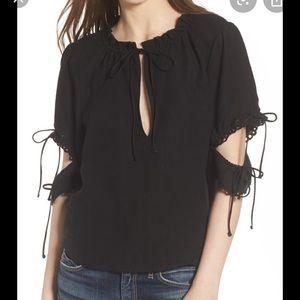 NWT McGuire piha beach blouse in black